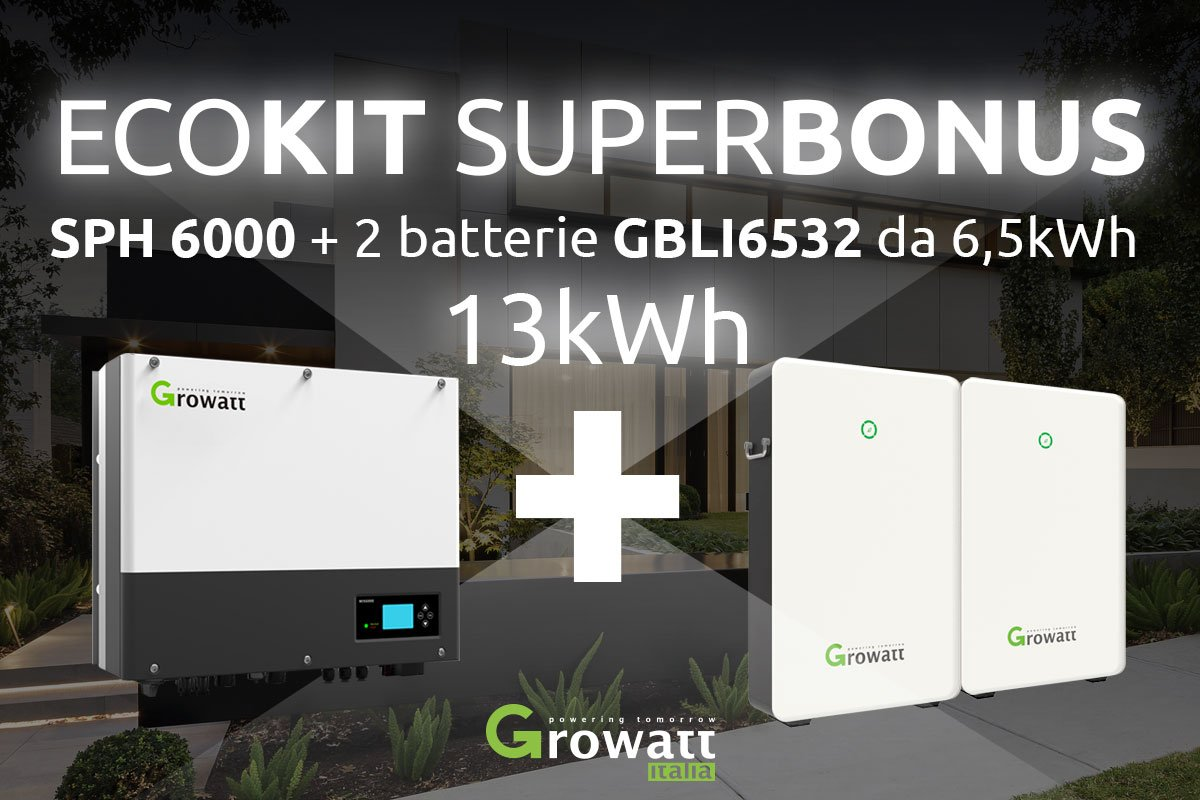 13-kW-ECOKIT-SUPERBONUS-inverter-e-strorage-Growatt