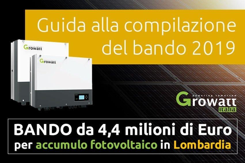 Guida al Bando per accumulo fotovoltaico in Lombardia 2019