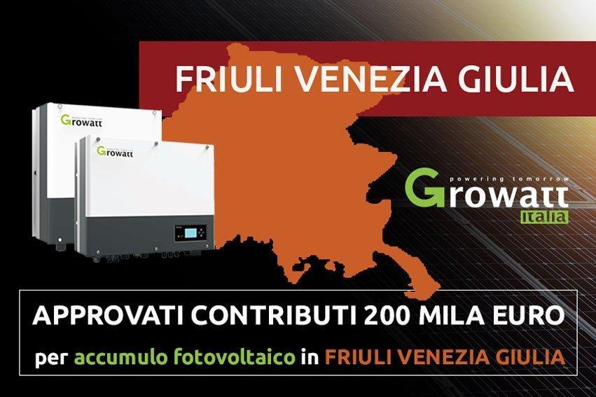 Il Friuli Venezia Giulia approva il contributo per i sistemi di accumulo 2019